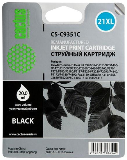 К-ж HP C9351CE (HP21XL) Black для DJ 3920, PSC1410 (20ml) Cactus - фото 5811