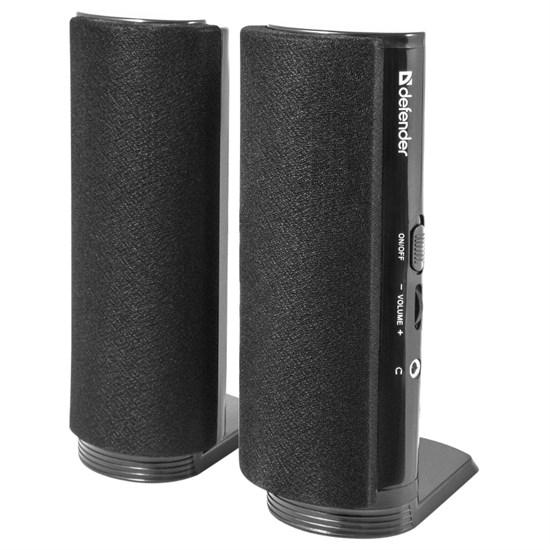 Defender SPK-210, 2x2W, черные, питание 220В (65210) - фото 5825