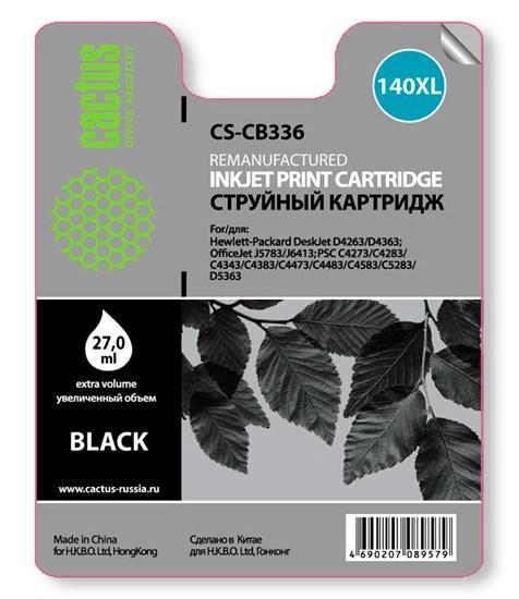 К-ж HP CB336HE (№140XL) Black (officejet J5783) (увеличенной емкости), 27мл, Cactus - фото 5859