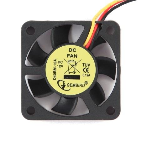 Вентилятор Gembird 40х40x10мм, питание от мат.платы (3pin), на подшипнике - фото 5900