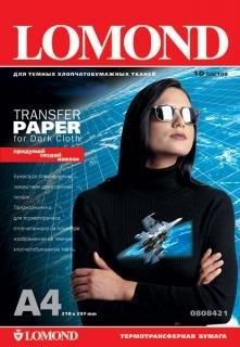Бумага Lomond A4 Термопереводная 140г/м2 для тёмной ткани, 10л. (0808421) - фото 5904