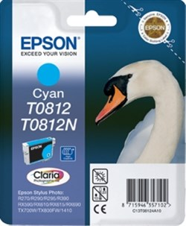 К-ж Epson T0812 Cyan для EPS R270/290/RX590 повышенной емкости ориг. - фото 5980
