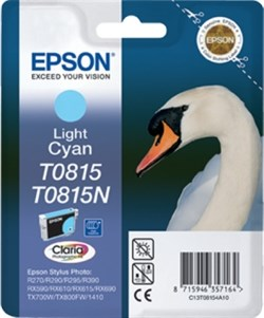 К-ж Epson T0815 Light Cyan для EPS R270/290/RX590 повышенной емкости ориг. - фото 5982