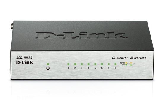 E-net Switch 8 port D-Link DGS-1008D/J3A/J3B (8 UTP) 10/100/1000 Mbps, мет. корпус - фото 6040