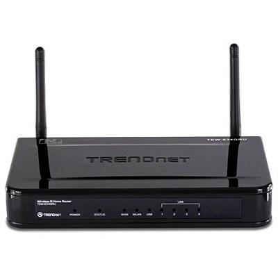 Маршрутизатор Wi-Fi 802.11n TrendNet TEW-634GRU 4*LAN-G+1WAN, 300Mbps, USB - фото 6163