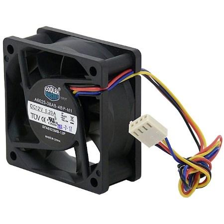 Вентилятор Cooler Master A6025-38AB-4BP-F1 60x60x25мм, питание 4-pin PWM - фото 6322