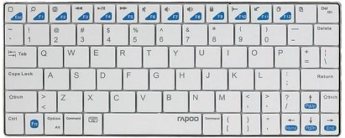 Беспроводная клавиатура Rapoo E6300 для iPad, белая, Bluetooth® - фото 6329