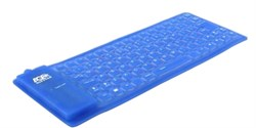 Клавиатура Agestar HSK810FB LED, гибкая, синяя, подсветка, 85кл., USB+PS/2 - фото 6352
