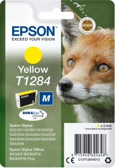 К-ж Epson T1284 Yellow для S22/SX125 ориг. - фото 6396
