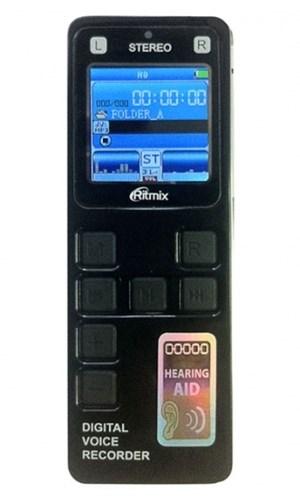 Диктофон Ritmix RR-970 (4Gb, MP3/WAV/PCM(WAV), 22-1078 ч, воспр. MP3/WMA/JPG/TXT, стереомикрофон, microSD, 2*AAA, USB) - фото 6427