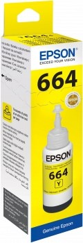 К-ж Epson T6644 с желтыми чернилами для L100/110/120/200/210/300/350/355/550/555/1300 (70 мл) - фото 6559