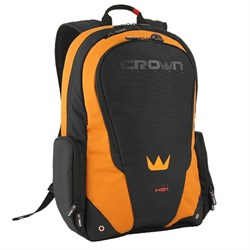 "Рюкзак Crown CMBPV-117 BBO (Vigorous Series) black/ orange 17"" - фото 6572"
