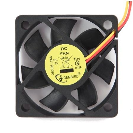Вентилятор Gembird 50х50x10мм питание от мат.платы (3pin), управляемый - фото 6856