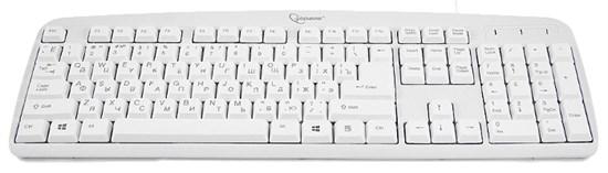 Клавиатура Gembird KB-8350U, белая, лазерная гравировка, USB - фото 6864