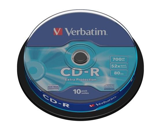 CD-R 700Mb 80min Verbatim 52x Extra Protection (упаковка 10шт. на шпинделе) (43437) - фото 6898