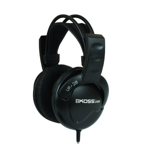 Наушники Koss UR20 (оголовье, закрытые, серые, 30Гц-20кГц, 32Ом, 97 дБ/мВт, 3,5 + 6,3 мм, кабель 2,4 м) - фото 6970