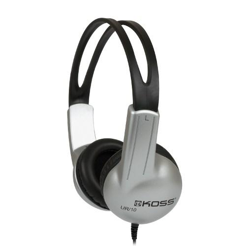 Наушники Koss UR10 (оголовье, закрытые, сереб.-чёрные, 60Гц-20кГц, 32Ом, 94 дБ/мВт, 3.5мм, кабель 1,2 м) - фото 6972