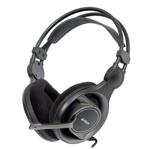 A4Tech HS-100 (оголовье, 20Гц-20кГц, 32Ом, 111дБ / -58 дБ мик., 2 * 3,5 мм, кабель 2м) - фото 6988