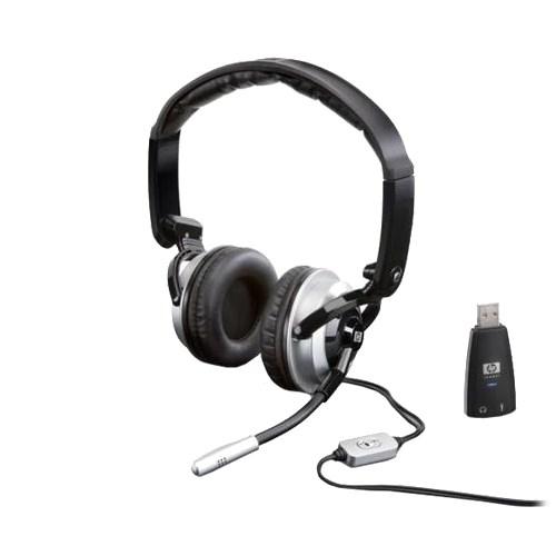 HP Premium DHS KJ270AA  (оголовье, закрытая, 20Гц-20кГц, 32Ом, -44 дБ мик., 2 * 3,5 мм или USB, кабель 1,5м) - фото 6994