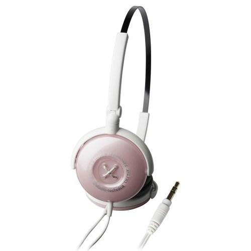 Audio-Technica ATH-FW3 PK (оголовье, закрытые, розовые, 15Гц-22кГц, 32Ом, 100 дБ/мВт, 3.5мм, кабель 1м) - фото 7015