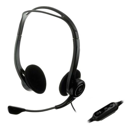 Logitech PC Headset 960 USB (оголовье, открытая, USB) (981-000100) - фото 7031