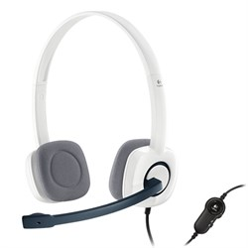 Logitech Stereo Headset H150 (оголовье, открытая, белая, 2 * 3,5 мм) (981-000350) - фото 7046