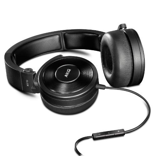 Гарнитура AKG K-619 Black (для Apple Iphone, оголовье, полуоткрытые, чёрные, 16 Гц-24 кГц, 32Ом, 115 дБ, кабель 1+1,2 м) - фото 7082