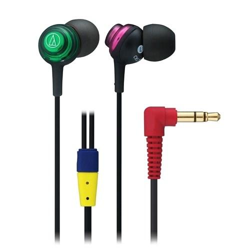 Наушники Audio-Technica ATH-CKL202 CZ (внутриканальные, зелёный/розовый, 20Гц-23кГц, 16Ом, 100 дБ/мВт, 3.5мм, кабель 1,2 м) - фото 7126
