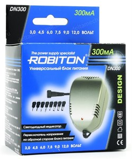 Блок питания Robiton (DN300) (3-12V, 300mA) 8 насадок - фото 7238