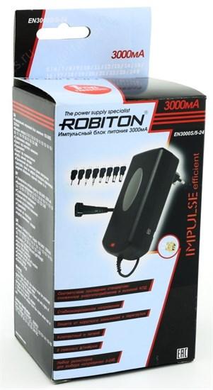 Блок питания Robiton (EN3000S/5-24V) импульсный (стабил.), (5-24V, 3000mA) 8 насадок - фото 7263