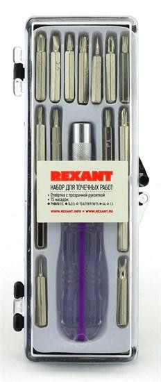 Набор отверток для точных работ 16 предметов Rexant (12-4704) - фото 7293