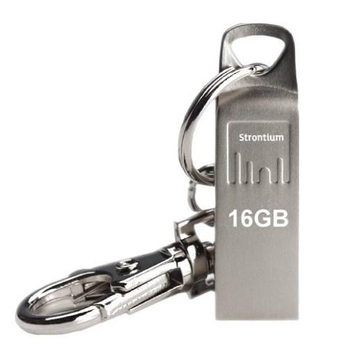 USB 2.0 Flash Drive 16GB Strontium DRIVE AMMO серебро (SR16GSLAMMO) - фото 7439