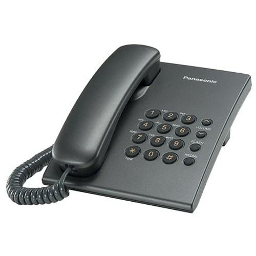 Телефон Panasonic KX-TS2350RUT (темно-серый) - фото 7543