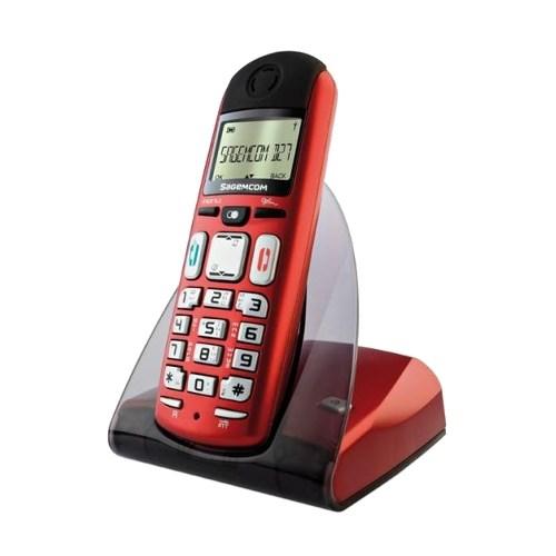 Р/Телефон DECT Sagemcom D27T Red (красный, люкс) - фото 7563