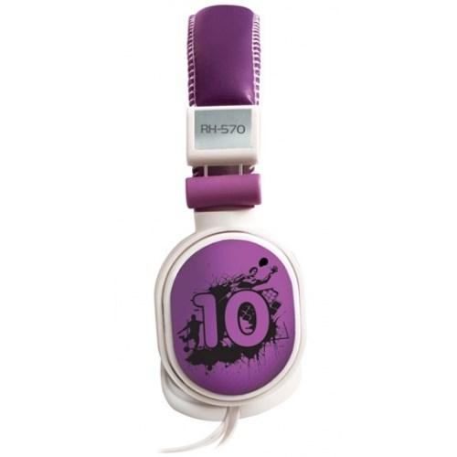 Ritmix RH-570 Forward Violet (оголовье, закрытые, фиолетовые, 18Гц-20кГц, 32Ом, 110 дБ/мВт, 3.5мм, кабель 1,5 м) - фото 7654