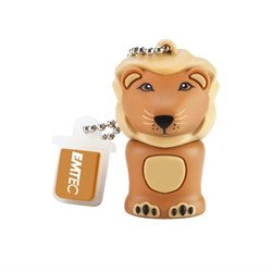 USB 2.0 Flash Drive 4GB Emtec Safari M325, Фигурка Lion (лев) - фото 7672