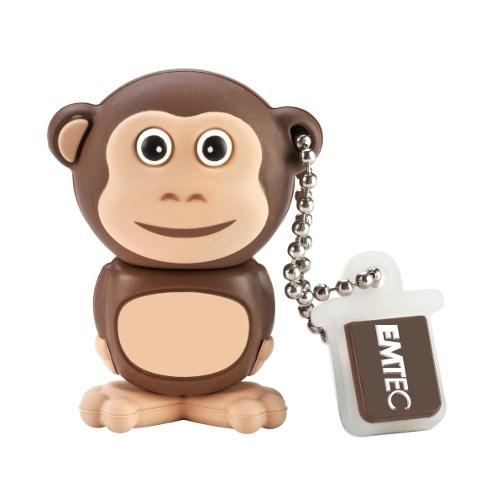 USB 2.0 Flash Drive 4GB Emtec Safari M322, Фигурка Monkey (EKMMD4GM322) - фото 7677