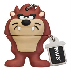 USB 2.0 Flash Drive 4GB Emtec Looney Tunes L103, Фигурка Tazmanian Devil (EKMMD4GL103) - фото 7679