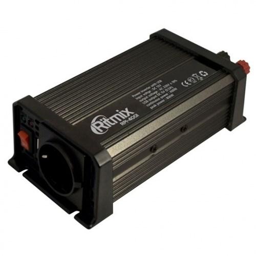 Адаптер питания автомобильный 12v -> 220V 400W Ritmix RPI-4001 + 5V USB (в прикуриватель) - фото 7837