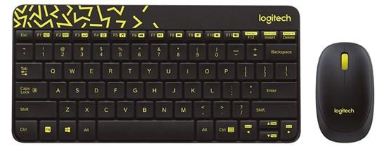 Клавиатура+мышь беспроводные Logitech MK240 Nano Black Wireless Desktop USB, мини (920-008213) - фото 7911