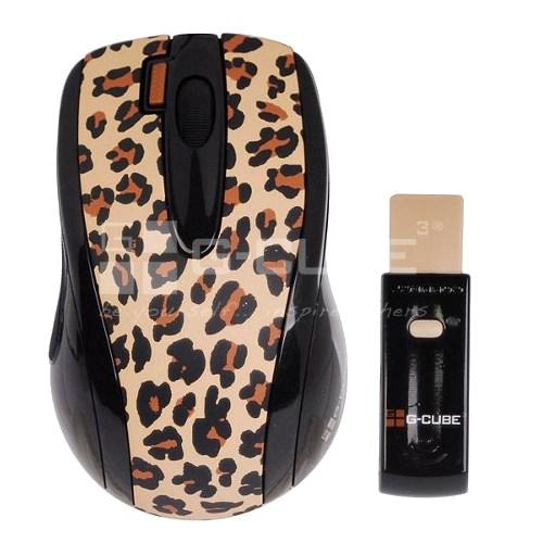 Мышь беспров. A4Tech G-Cube Lux Leopard, бежевая, USB (G4L-70BF) - фото 7921