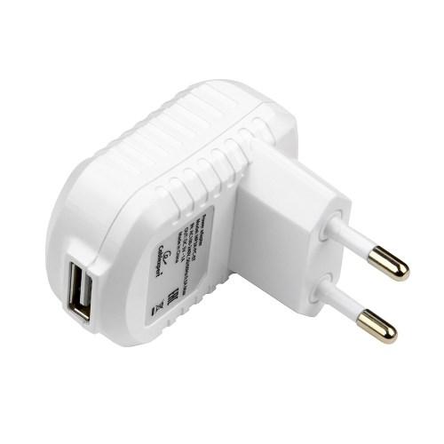 Зарядное устройство 220V -> USB 5V Cablexpert MP3A-PC-07 1000mA, белый - фото 7976
