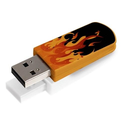 USB 2.0 Flash Drive 8GB Verbatim Mini Elements Edition, Fire (#98158) - фото 7999