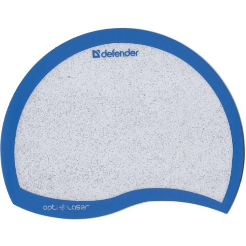 Коврик для мыши Defender Ergo Optic Laser (пластик, капля) Blue - фото 8008