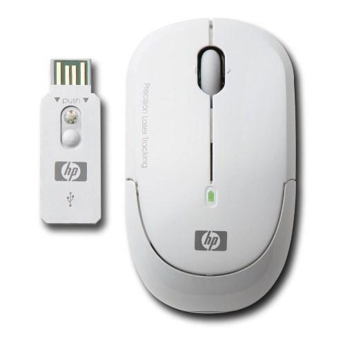Мышь беспров. HP Wireless Laser Mini Mouse, White, USB (KM407AA) - фото 8038