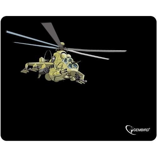 """Коврик для мыши Gembird MP-GAME9, рисунок- """"вертолет"""", 250*200*3мм - фото 8161"""