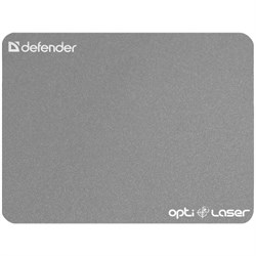 Коврик для мыши Defender Ergo Optic Laser Silver (пластик) 220х180х0.4мм (50410) - фото 8164