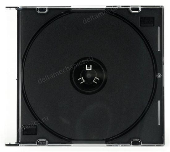 Коробка на 1 CD slim, black tray - фото 8196