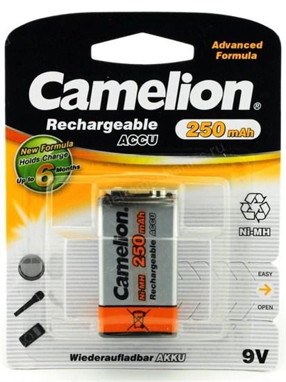 "Аккумулятор 6F22 (""Крона"") Camelion NH-9V250BP1 (NiMH, 8.4V, 250mAh) 1шт. - фото 8199"