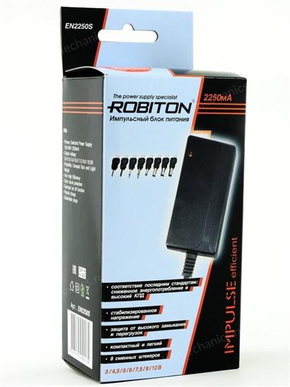 Блок питания Robiton (EN2250S) импульсный (стабил.), (3-12V, 2250mA) 8 насадок - фото 8208